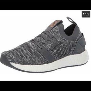 Puma Gray Laced Casual Sneakers Women's 8 1/2